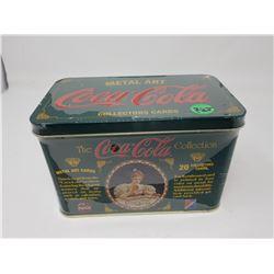 COCA-COLA TIN COLLECTOR CARDS