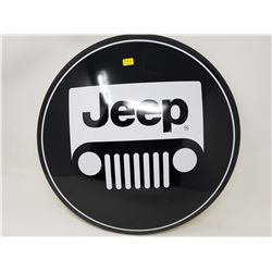 """JEEP TIN DOMED SIGN (REPRODUCTION) *16""""*"""