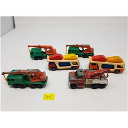 LOT OF SIX LESNEY TOY TRUCKS (MADE IN ENGLAND)