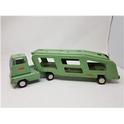 GREEN TONKA CAR HAULER (1960'S)