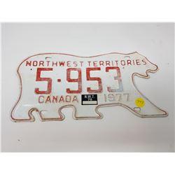 1977 NWT BEAR PLATE