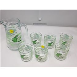 JUICE PITCHER WITH 6 GLASSES