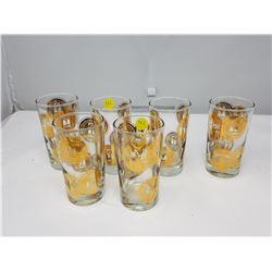 SIX SASK DIAMOND JUBILLE/MOUNTIE GLASSES