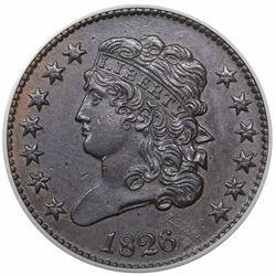 1826 Classic Head Half Cent, C-1, R1, ANACS AU58.