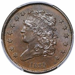 1835 Classic Head Half Cent, C-1, R1, PCGS MS62BN.