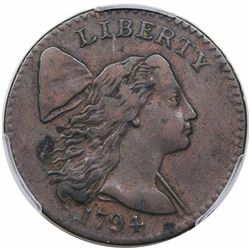 1794 Liberty Cap Large Cent, Head of 1794, S-31, R1, PCGS XF40.