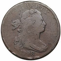 1798 Draped Bust Large Cent, Style 1 Hair, S-157, R2, VG8.