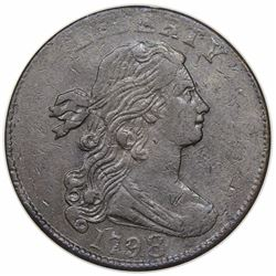 1798 Draped Bust Large Cent, Style 2 Hair, S-166, R1, ANACS EF40.