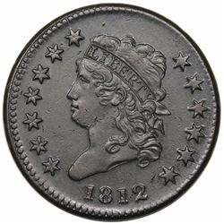 1812 Classic Head Large Cent, Small Date, S-290, R1, AU detail, environmental damage.
