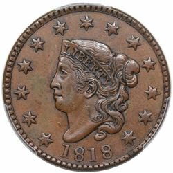 1818 Coronet Head Large Cent, N-6, R1, PCGS XF45.