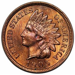 1905 Indian Cent, MS64RB.