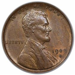 1909-S VDB Lincoln Cent, PCGS (OGH) MS63BN CAC.