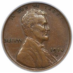 1914-D Lincoln Cent, PCGS XF45.