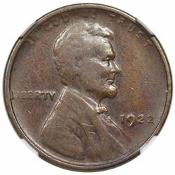 1922 No D Lincoln Cent, Strong Reverse, NGC VF35.