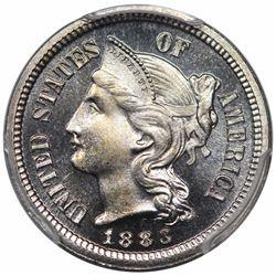 1883 Three Cent Nickel, PCGS PR67CAM CAC.