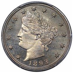 1893 Liberty Nickel, PCGS PR66+.
