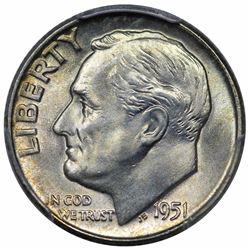 1951-D Roosevelt Dime, PCGS MS67.
