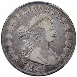 1805 Draped Bust Half Dollar, O-112, R2, PCGS VF25.