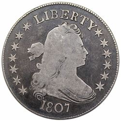 1807 Draped Bust Half Dollar, O-101, R5, VG10.