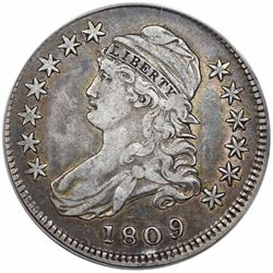 1809 Capped Bust Half Dollar, O-102, R1, ANACS VF30.