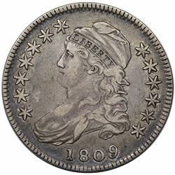1809 Capped Bust Half Dollar, O-105, R2, VF20.