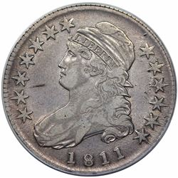 1811 Capped Bust Half Dollar, O-110, R1, ANACS VF30.