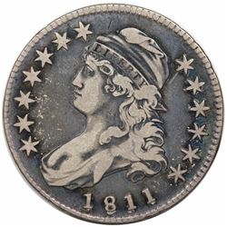 1811 Capped Bust Half Dollar, O-110, R1, VF20.