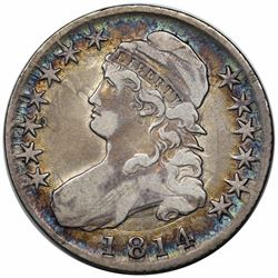1814 Capped Bust Half Dollar, O-103, R1, VF20.