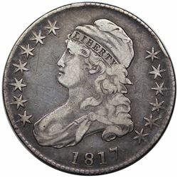 1817 Capped Bust Half Dollar, O-111a, R1, VF20.