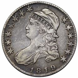 1819 Capped Bust Half Dollar, O-108, R3, VF30.