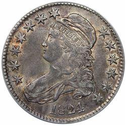 1824 Capped Bust Half Dollar, O-113, R1, ANACS AU50.