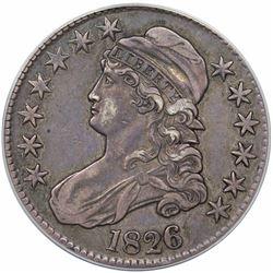 1826 Capped Bust Half Dollar, O-102, R1, ANACS EF45.