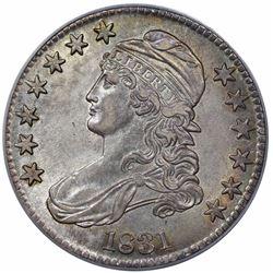 1831 Capped Bust Half Dollar, O-116, R3, PCGS AU55.
