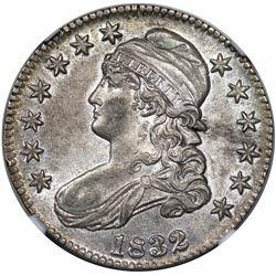 1832 Capped Bust Half Dollar, O-103, R1, NGC AU58.