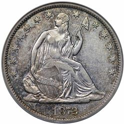 1872-S Seated Liberty Half Dollar, ANACS EF45 details, cleaned.