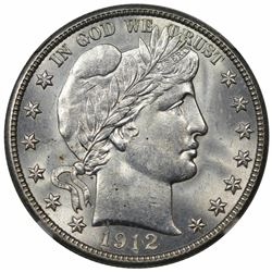 1912-D Barber Half Dollar, NGC MS65.