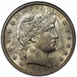 1915-S Barber Half Dollar, NGC MS64 CAC.