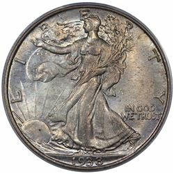 1938 Walking Liberty Half Dollar, ANACS MS64.
