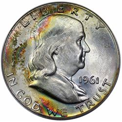1961-D Franklin Half Dollar, ANACS MS66.
