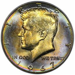 1967 Kennedy Half Dollar, ANACS MS64.