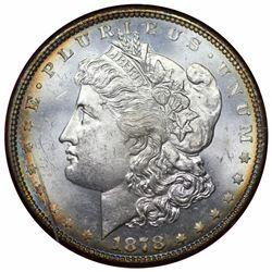 1878 Morgan Dollar, 8TF, Redfield holder, Paramount MS65.