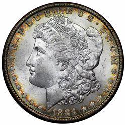 1884 Morgan Dollar, Redfield holder, Paramount MS65, NGC MS63.