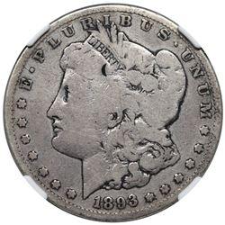 1893-S Morgan Dollar, NGC G details, obverse damage.