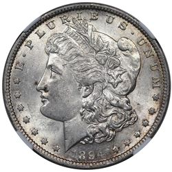 1894 Morgan Dollar, NGC AU58.