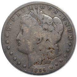 1894 Morgan Dollar, ANACS G6 details, scratched.