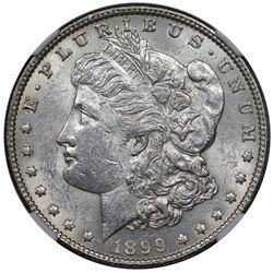 1899 Morgan Dollar, NGC AU55.
