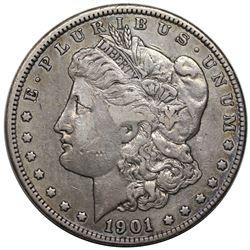 1901-S Morgan Dollar, VF30.