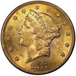 1877-S $20 Liberty, MS60.