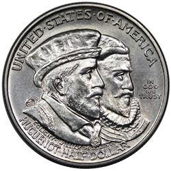 1924 Huguenot Commemorative Half Dollar, MS63.