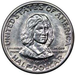 1934 Maryland Commemorative Half Dollar, MS63.